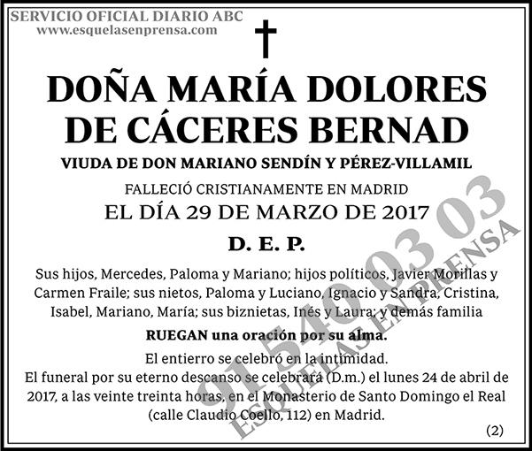 María Dolores de Cáceres Bernad